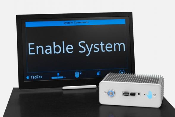 Receptor y pantalla del TedCube Controlling S-Cape System